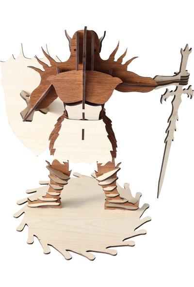 3D Sergi Ahşap Humanist Orc Maketi 48 Parça