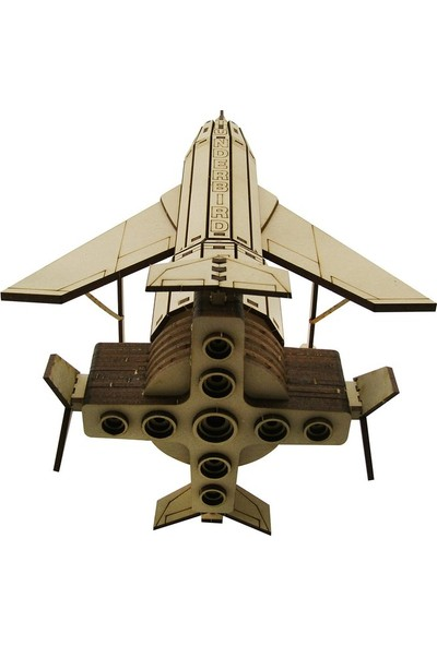 3D Sergi Ahşap Thunderbird 1 Aracı Maketi 157 Parça