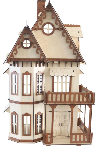 3D Sergi Ahşap Gothic Villa Maketi 165 Parça