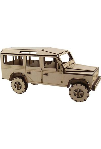 3D Sergi Ahşap Land Rover Jeep Maketi 64 Parça