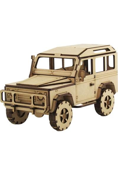 3D Sergi Ahşap Land Rover Defender Jeep Maketi 131 Parça