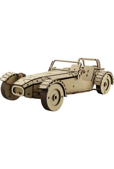 3D Sergi Ahşap Lotus 7 Araba Maketi 179 Parça