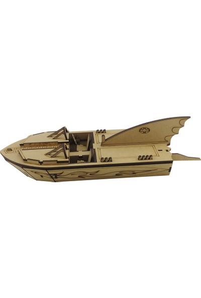 3D Sergi Ahşap Bat Boat Maketi 66 Parça