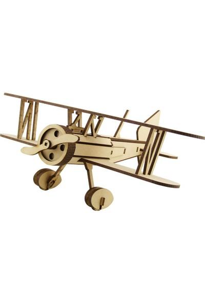 3D Sergi Ahşap Curtiss Goshawk Uçak Maketi 50 Parça
