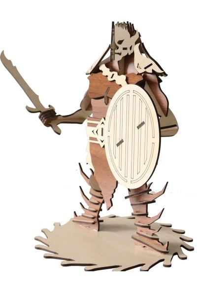 3D Sergi Ahşap Goblin Orc Maketi 55 Parça