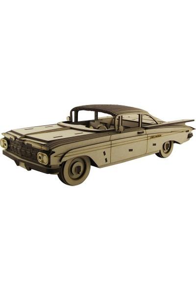 3D Sergi Ahşap Chevrolet Impala 1959 Maketi 219 Parça