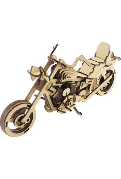 3D Sergi Ahşap Harley Motosiklet Maketi 106 Parça