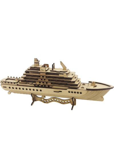 3D Sergi Ahşap Cruise Gemi Maketi 71 Parça