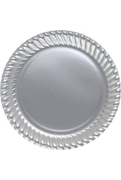Kullan At Party Gümüş Renkli Karton Tabak