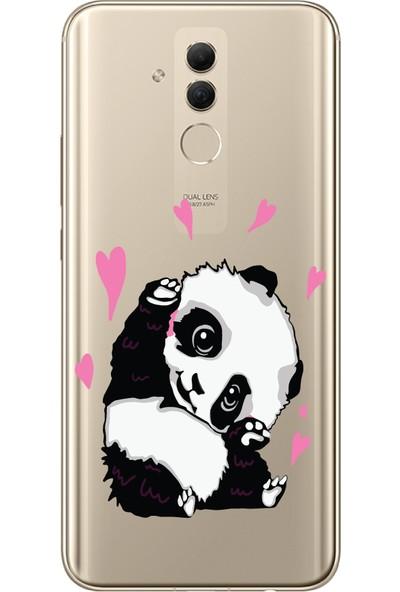 Bikapak Huawei Mate 20 Lite Panda Desenli Arka Kapak