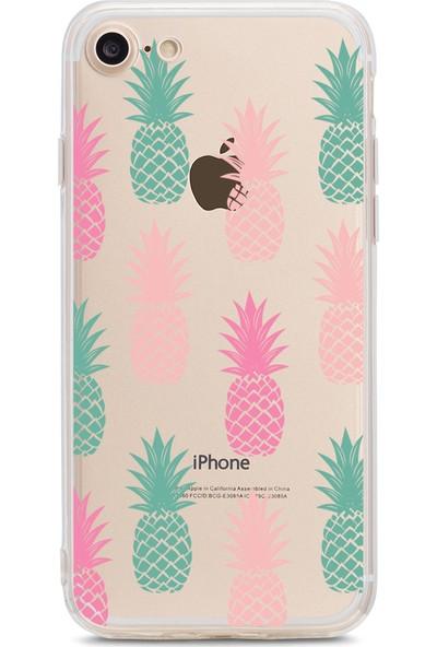 Bikapak Apple iPhone 7/8 Ananas Desenli Arka Kapak