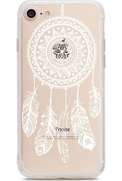 Bikapak Apple iPhone 7/8 Beyaz Düş Kapani Desenli Arka Kapak