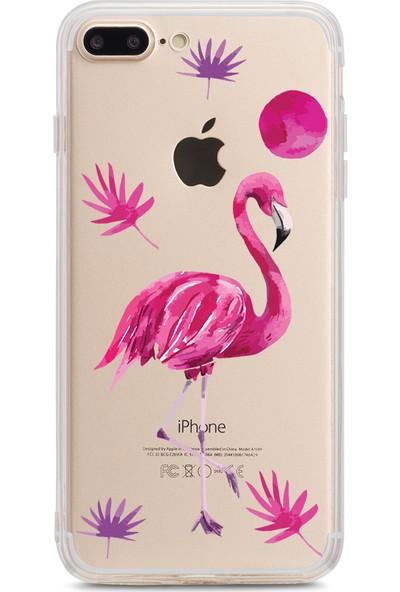 Bikapak Apple iPhone 7/8 Plus Flamingo Desenli Arka Kapak