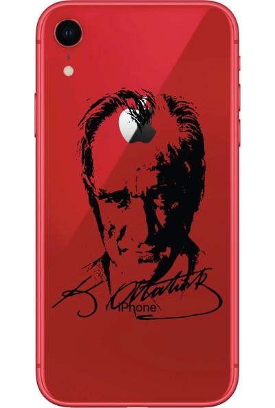 Bikapak Apple iPhone XR Atatürk Portre Desenli Arka Kapak