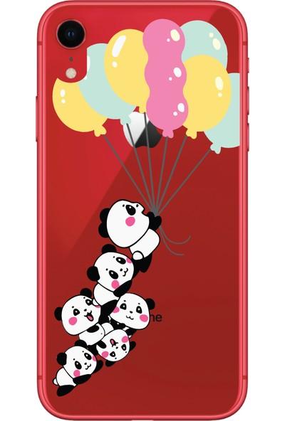 Bikapak Apple iPhone XR Uçan Pandalar Desenli Arka Kapak