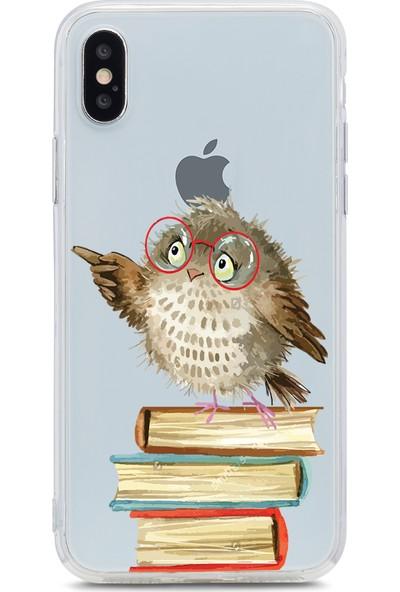 Bikapak Apple iPhone XS Max Prof. Baykuş Desenli Arka Kapak