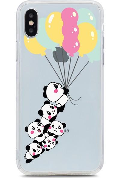 Bikapak Apple iPhone XS Max Uçan Pandalar Desenli Arka Kapak