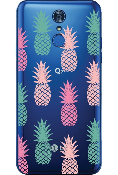 Bikapak LG Q7 Plus Ananas Desenli Arka Kapak