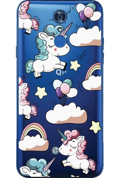 Bikapak LG Q7 Plus Unicorn Desenli Arka Kapak
