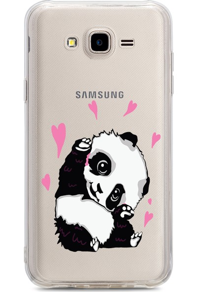 Bikapak Samsung Galaxy J7/J7 Core Panda Desenli Arka Kapak