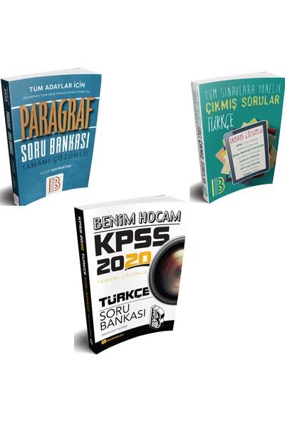 Benim Hocam Yayınları 2020 KPSS Lisans Türkçe + Paragraf Soru Bankası +Türkçe Çıkmış Sorular Seti