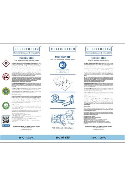 Ulchem Silikon Sprey 500 Ml Koşu Bandı Yağı- Amerika Nsf H1 Sağlık Sertifikalı-Kokusuz