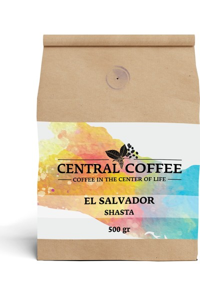 Central Coffee El Salvador Shasta 500 gr Öğütülmüş Filtre