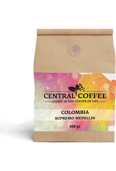 Central Coffee Colombia Supremo Medellin 500 gr Öğütülmüş Filtre