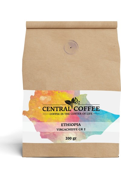 Central Coffee Ethiopia Yirgacheffe 200 gr Çekirdek