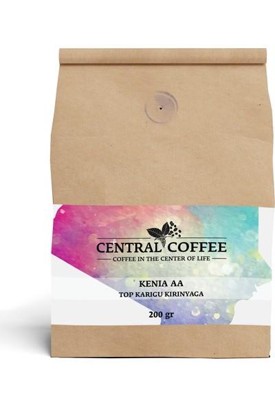 Central Coffee Kenya Aa Top Karigu Kirinyaga 200 gr Öğütülmüş Filtre