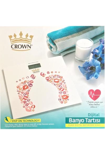 Crown CRW-7002 Desenli Dijital Cam Baskül