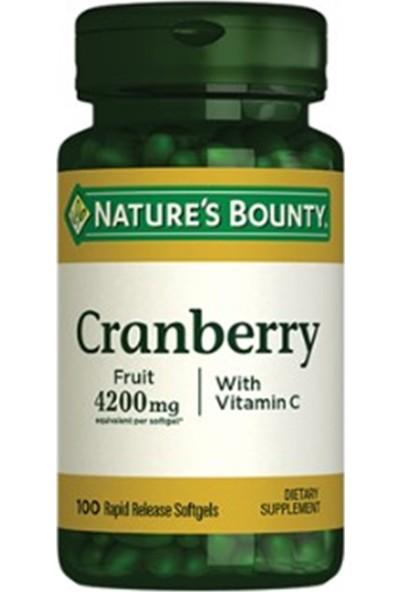 Nature's Bounty Cranberry Fruit 4200 Mg Vitamin C 100 Softgels
