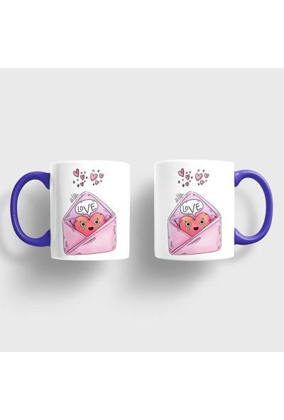 Sevgili Kupaları Aşk Mektubu Kupa Takımı