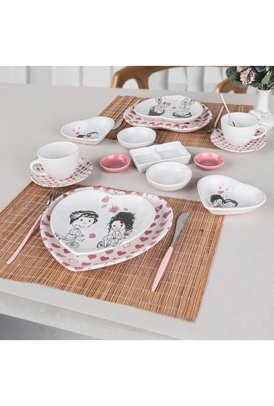 Keramika 15 Parça Love Kahvaltı Takımı