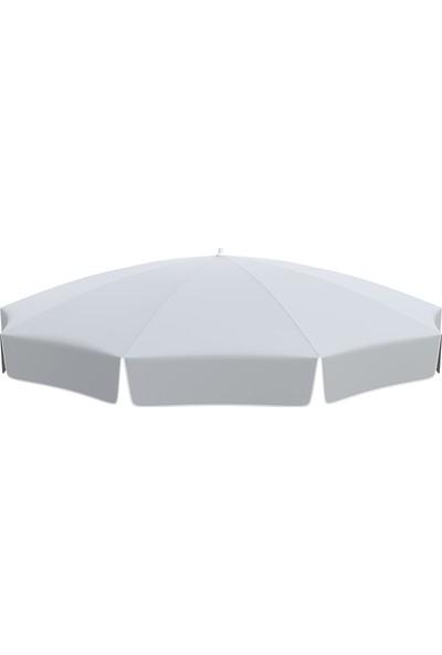 Tevalli Parasols 200 cm Lüks Polyester Plaj Şemsiye - Gümüş Gri