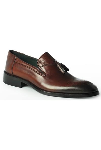 J Club Deri Loafer Püsküllü Kahverengi Erkek Ayakkabı