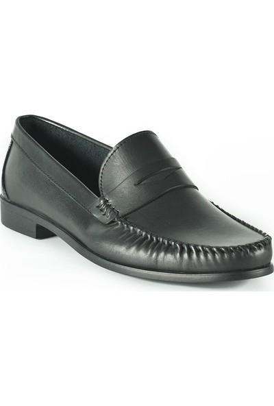 J Club Deri Loafer Siyah Erkek Ayakkabı