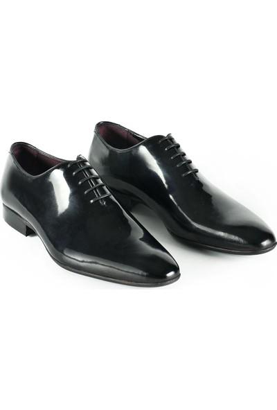 J Club Deri Rugan Siyah Erkek Ayakkabı