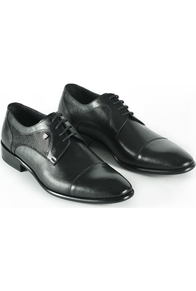 J Club Deri Siyah Erkek Ayakkabı
