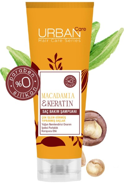 URBAN Care Macadamia & Keratin Saç Bakım Şampuanı 250 ml