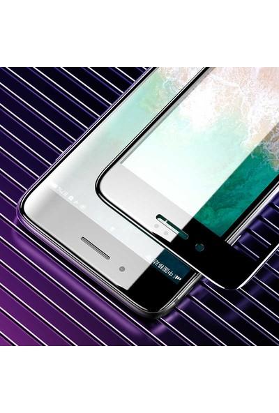 Tekno Grup Apple iPhone Se 2020 Tam Kaplayan Temperli Cam Ekran Koruyucu Siyah