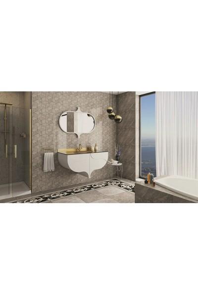 Netdeko Çırağan Banyo Dolabı Sedef - Krem 110 cm