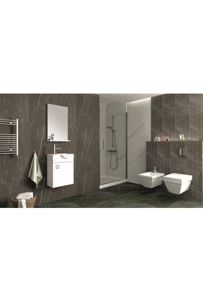 Netdeko Mini Banyo Dolabı Beyaz 55 cm