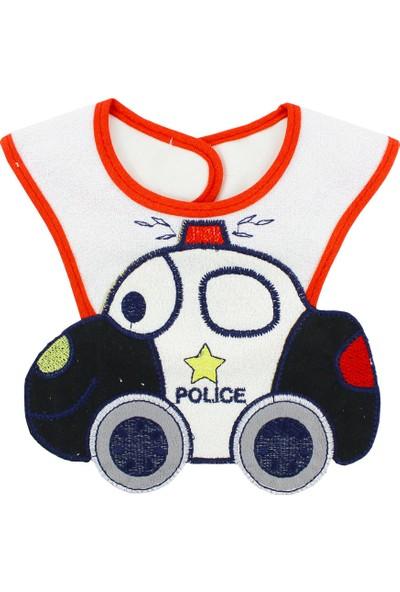 Buude Polis Arabalı Bebek Mama Önlüğü