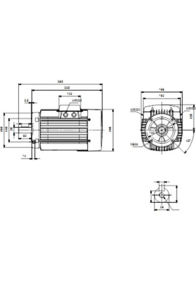 Grundfos MG100LC Su Motoru