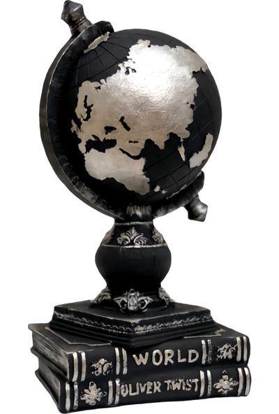Lime Art Shop Dekoratif Ev Ofis Aksesuarı Gümüş Dünya Biblo