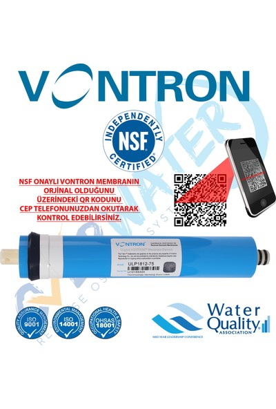Overwater Su Arıtma Cihazı Filtresi 7'li Filtre Seti Paket 11 Aşama Vontron Membran