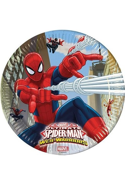 Decorata Party Spiderman Karton Tabak 8'li