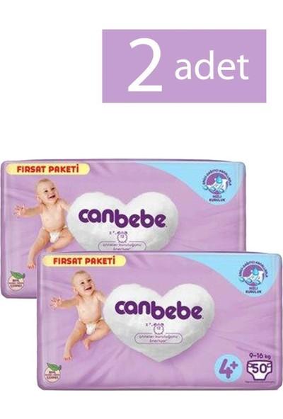 Canbebe Bebek Bezi 4+ Maxi Beden 50 Adet 2 Paket