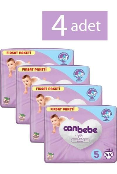 Canbebe Bebek Bezi 5 Beden 44 Adet 4 Paket